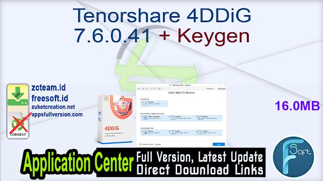 Tenorshare 4DDiG 7.6.0.41 + Keygen_ ZcTeam.id