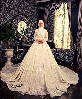صور فساتين زفاف، للمحجبات موضة 2021