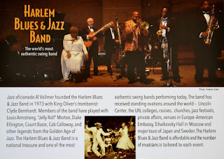 Harlem Blues & Jazz Band at New Rochelle Public Library / Concert Announcement / February 23, 2020