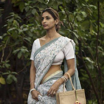 White color Designer saree