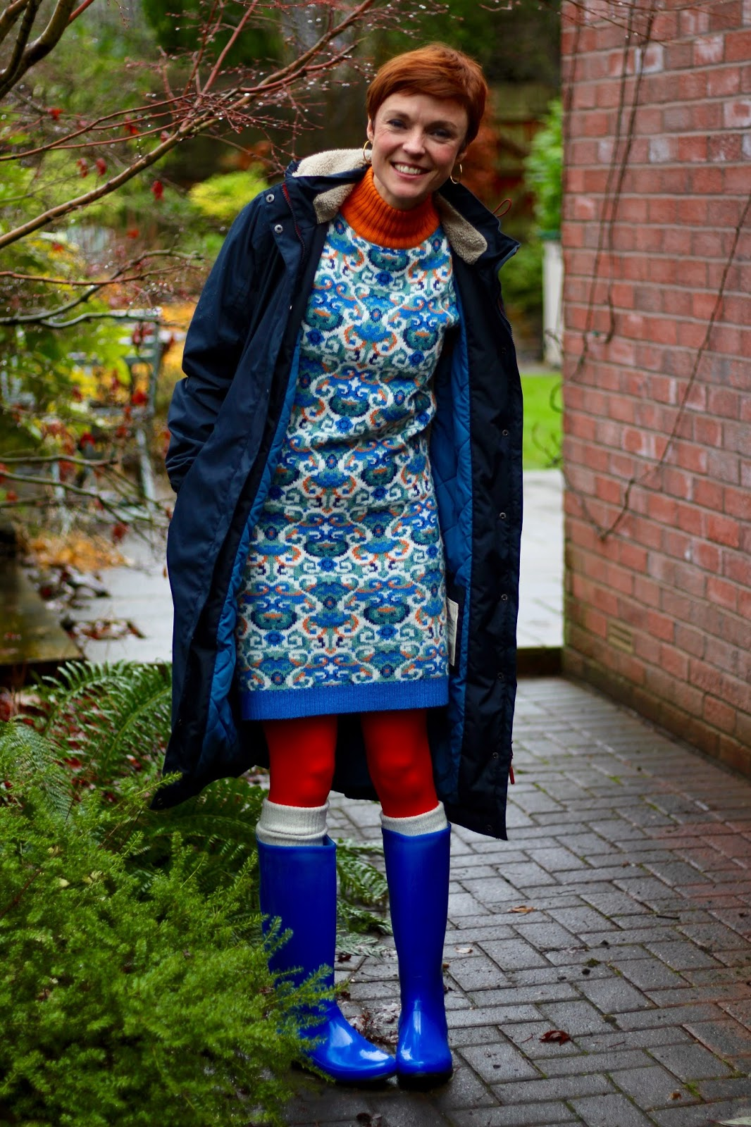 Wearing colour in wet weather | Fake fabulous