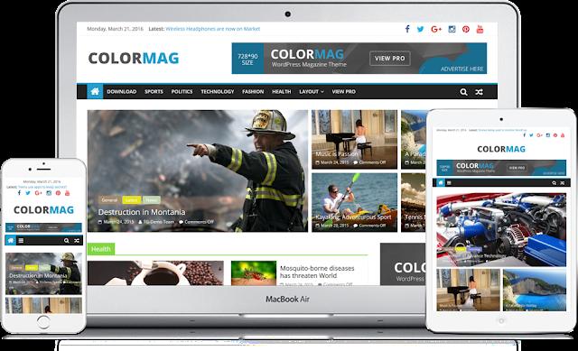 Download ColorMag Magazine Style Free WordPress Theme