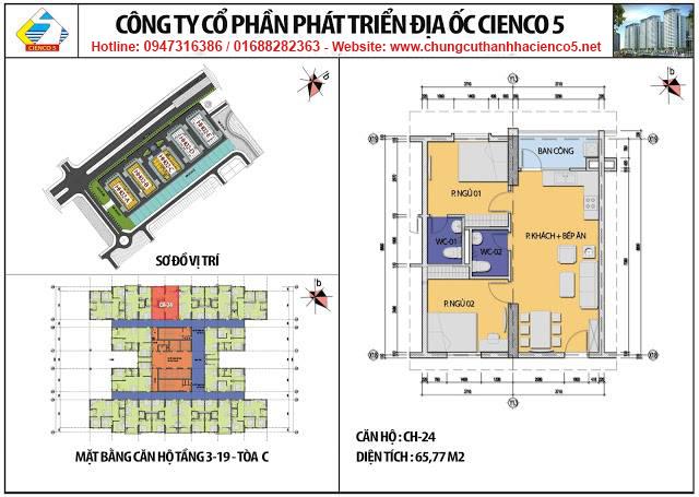Sơ đồ thiết kế căn 24 chung cư B2.1 HH02C Thanh Hà Cienco 5
