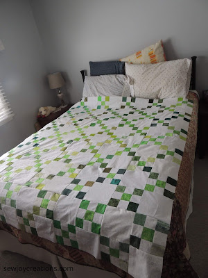 single irish chain quilt top