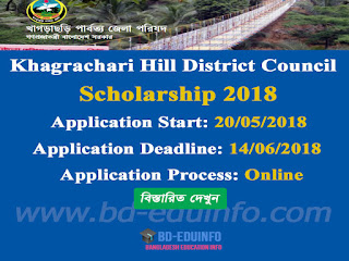 Khagrachari Hill District Council Scholarship 2017-2018