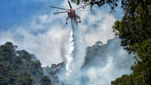 Πυρκαγιά στα Γεράνεια Όρη: Κυβερνητικό κλιμάκιο για την αποτίμηση των καταστροφών
