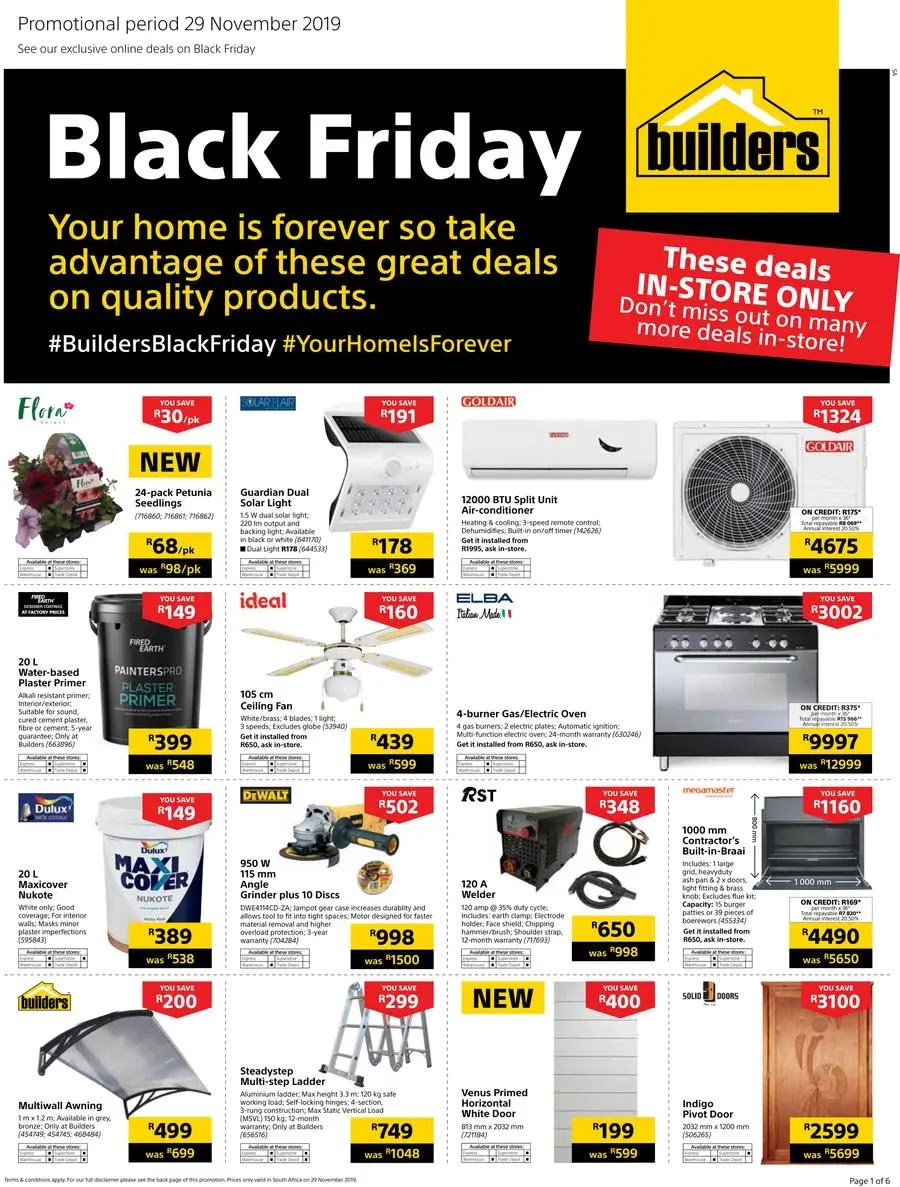 Builders Warehouse Black Friday Deals Page 1