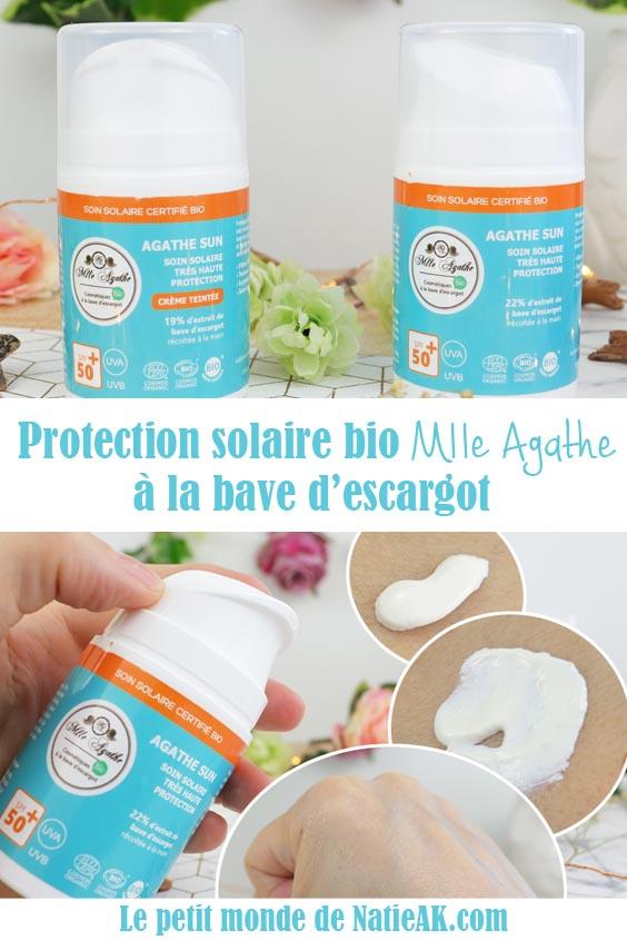 Avis crème solaire bio Mlle Agathe