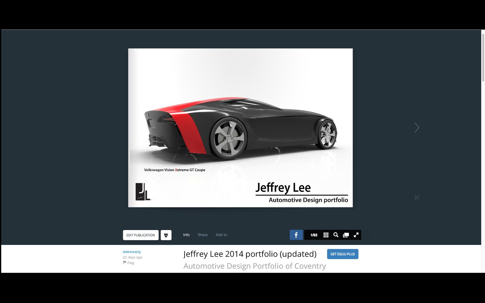 Jeffrey Lee S Car Design Automotive Design Portfolio Is On Issuu And Behance Now
