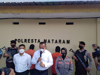 Satuan Resnarkoba Polresta Mataram Mengamankan 3 Orang Tersangka Atas Kepemilikan Narkoba Jenis Sabu