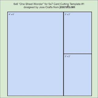5x7 One Sheet Wonder Template #1 by Jess Crafts