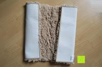 """Vorderseite und Rückseite: Norcho Weiche Mikrofaser Badematte Luxus Rutschfest Antibakteriell Gummi Teppich 27""""x18"""" Khaki"""