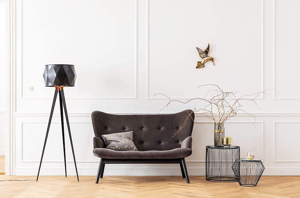 sofá para espacios pequeños gris de estilo retro