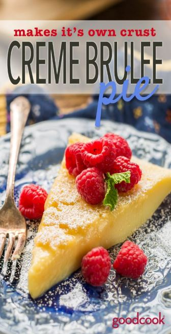 Makes It's Own Crust Creme Brulee Pie