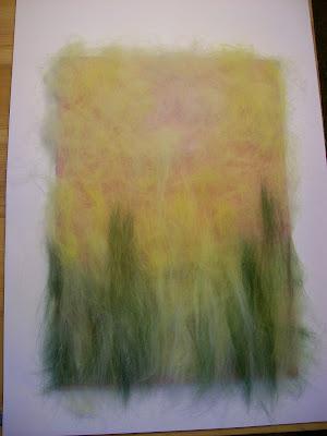 """так всё начиналось... рисунок - картина шерстью """"ромашковое поле"""""""