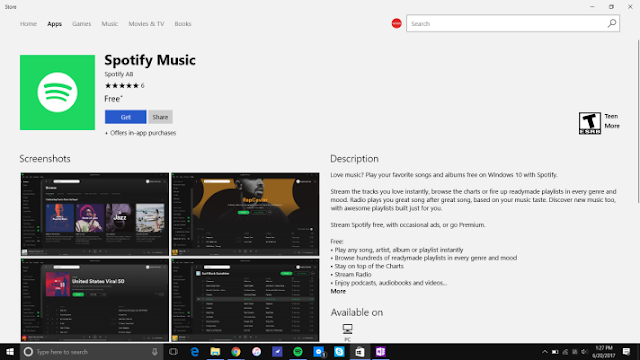 Spotify sekarang tersedia di Windows Store