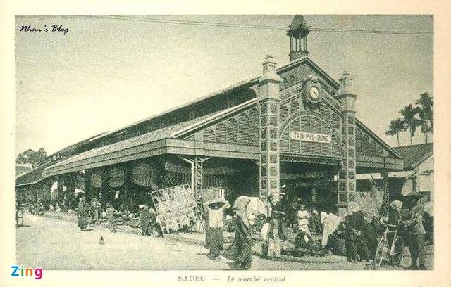 Chợ thực phẩm Sa Đéc xưa