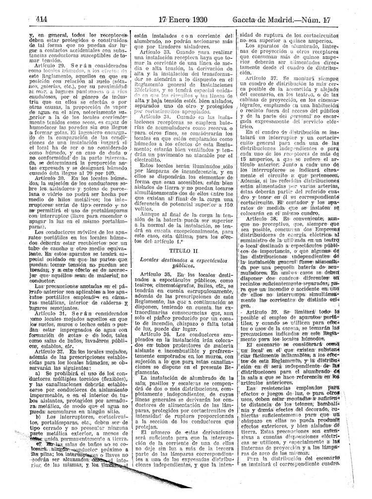 reglamento instalaciones electricas receptoras 1930 - 04