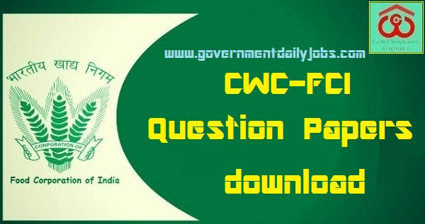 CWC Competitive Exam Question Paper