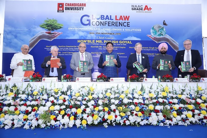 Chandigarh University draws world's attention towards serious environment Issues by organizing Global Law Conference