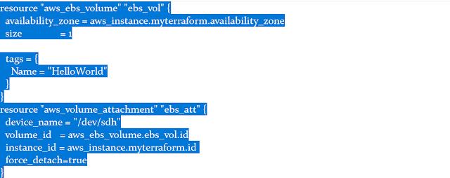 Adding EBS Volume