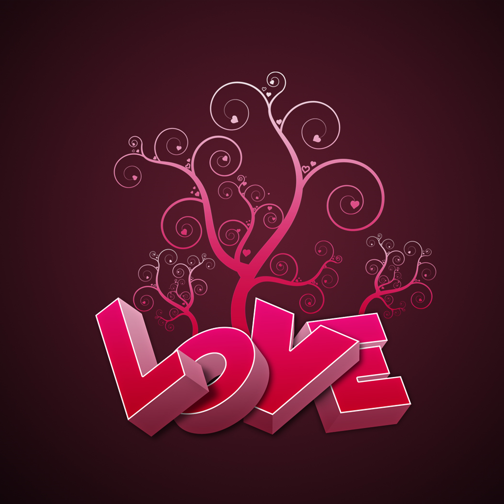 IPad Valentine's Day Romantic Wallpaper