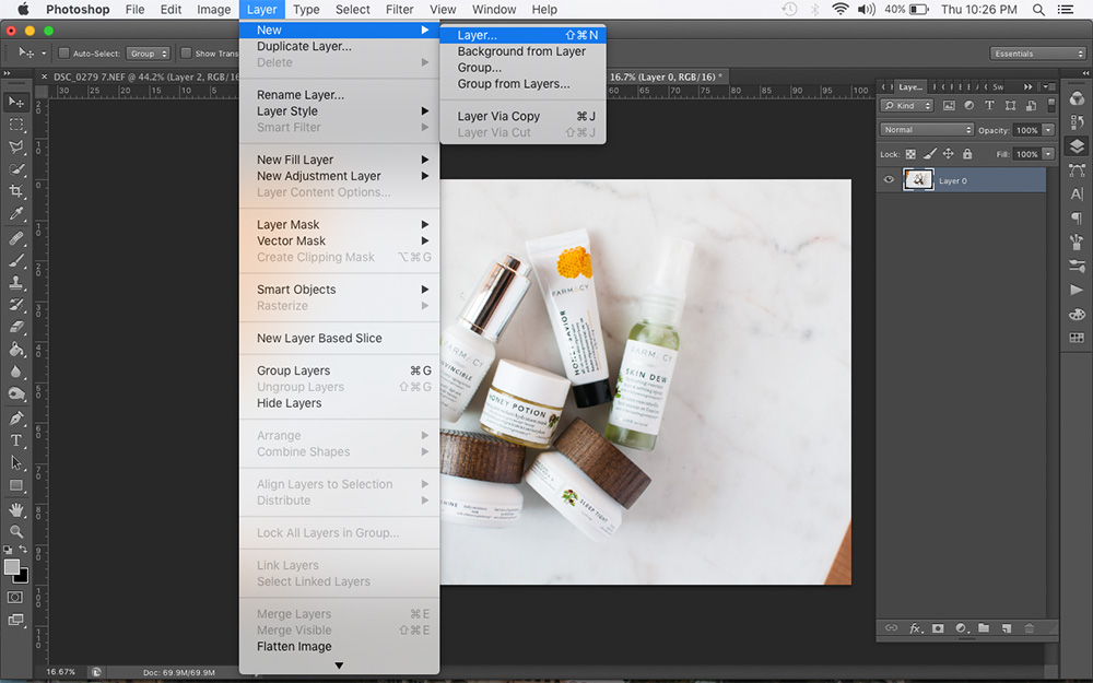 how to make new layer in photoshop, new photoshop layer, photoshop basics, photoshop how to, photoshop for bloggers