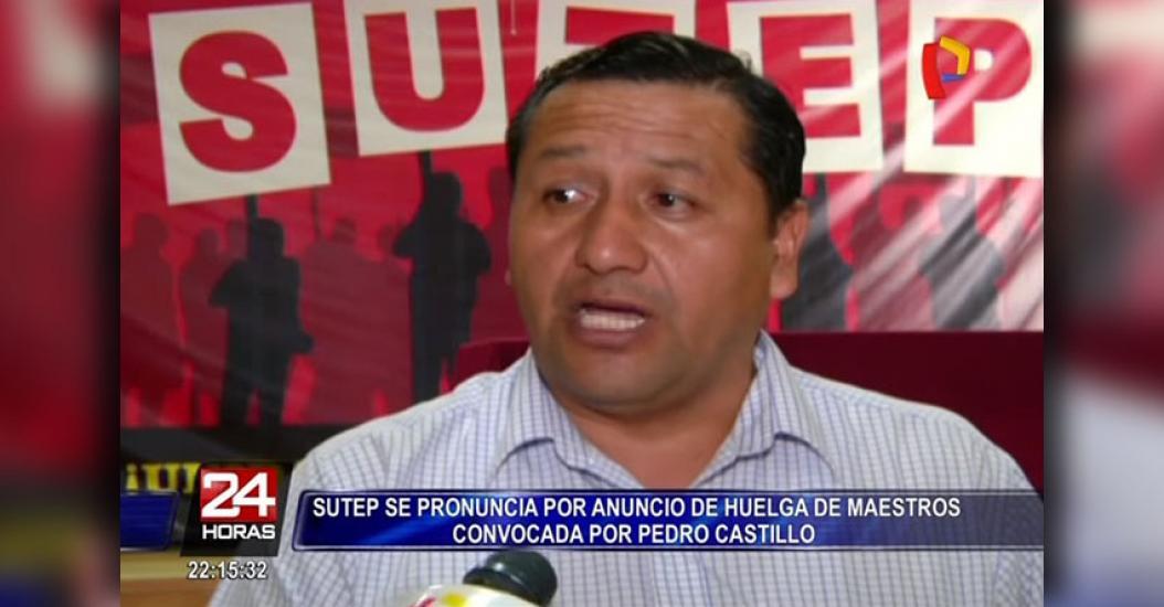 SUTEP se pronuncia por anuncio de huelga de maestros convocada por Pedro Castillo [VIDEO]