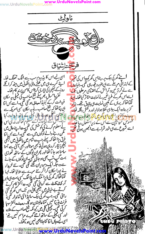 Dil hi to hai na sang o khisht novel by Farhat Ishtiaq