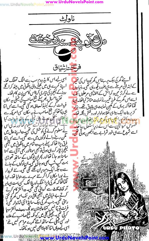 Dil hi to hai na sang o khisht novel by Farhat Ishtiaq
