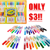 EXPIRED! 34 Crayola Broadline Market Set Only $3!! + Free Shipping With Amazon Prime or $25 Order