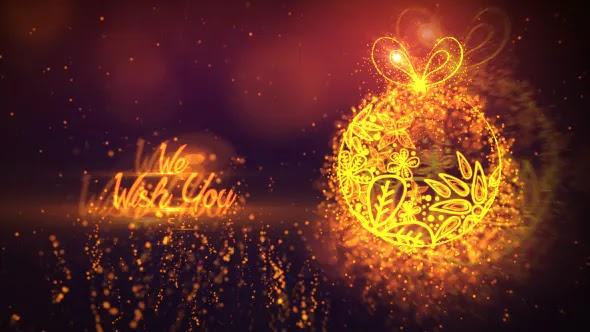 Videohive Merry Christmas Gold 14178992