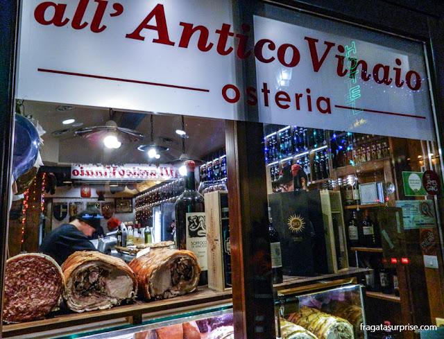All'Antico Vinaio, um dos melhores sanduíches do mundo, em Forença