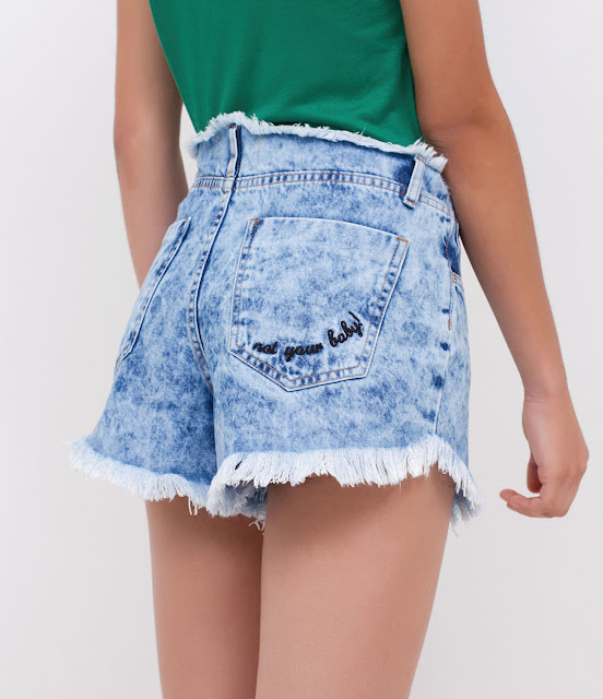 Lojas Renner Shorts Jeans Bordado