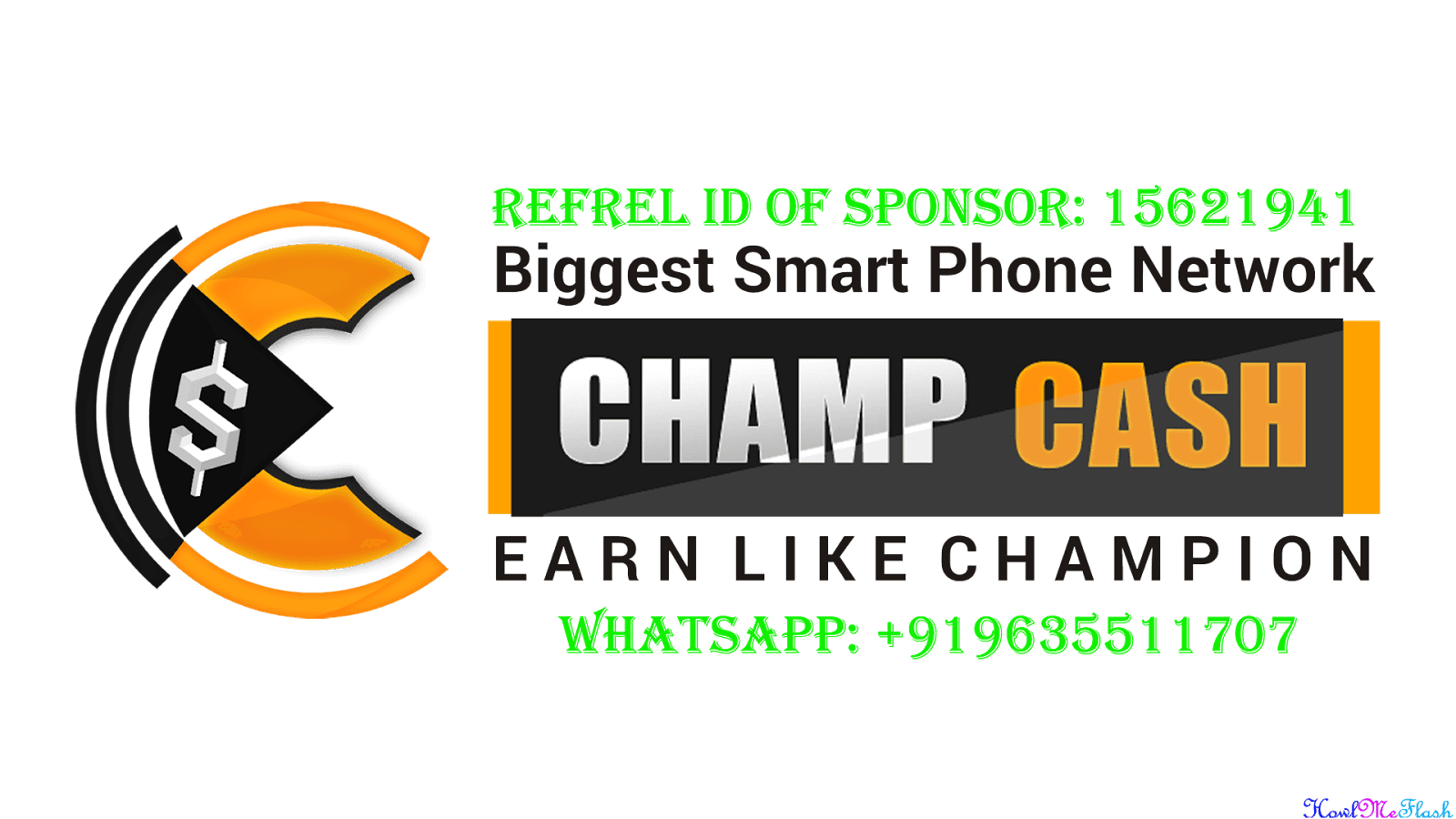 Champcash Refer Id of Sponsor '15621941' How To Join and Earn Real Money