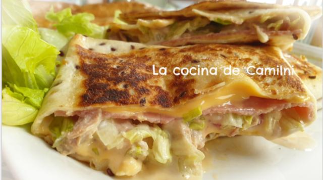 Wraps con ensalada de atún (La cocina de Camilni)