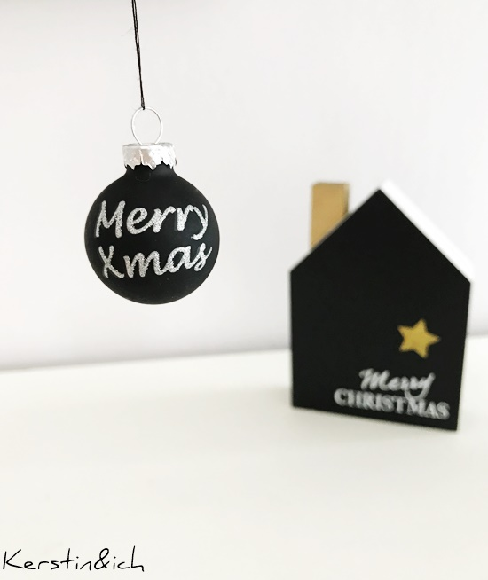 Merry X Mas Weihnachten Dekokugel