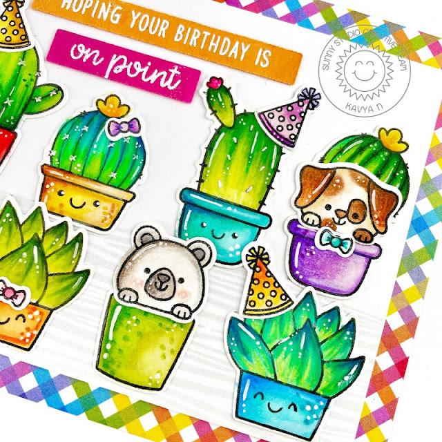 Sunny Studio Stamps: Looking Sharp Beach Buddies Cactus Themed Birthday Card by Kavya