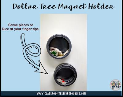 Dollar Tree magnetic tins