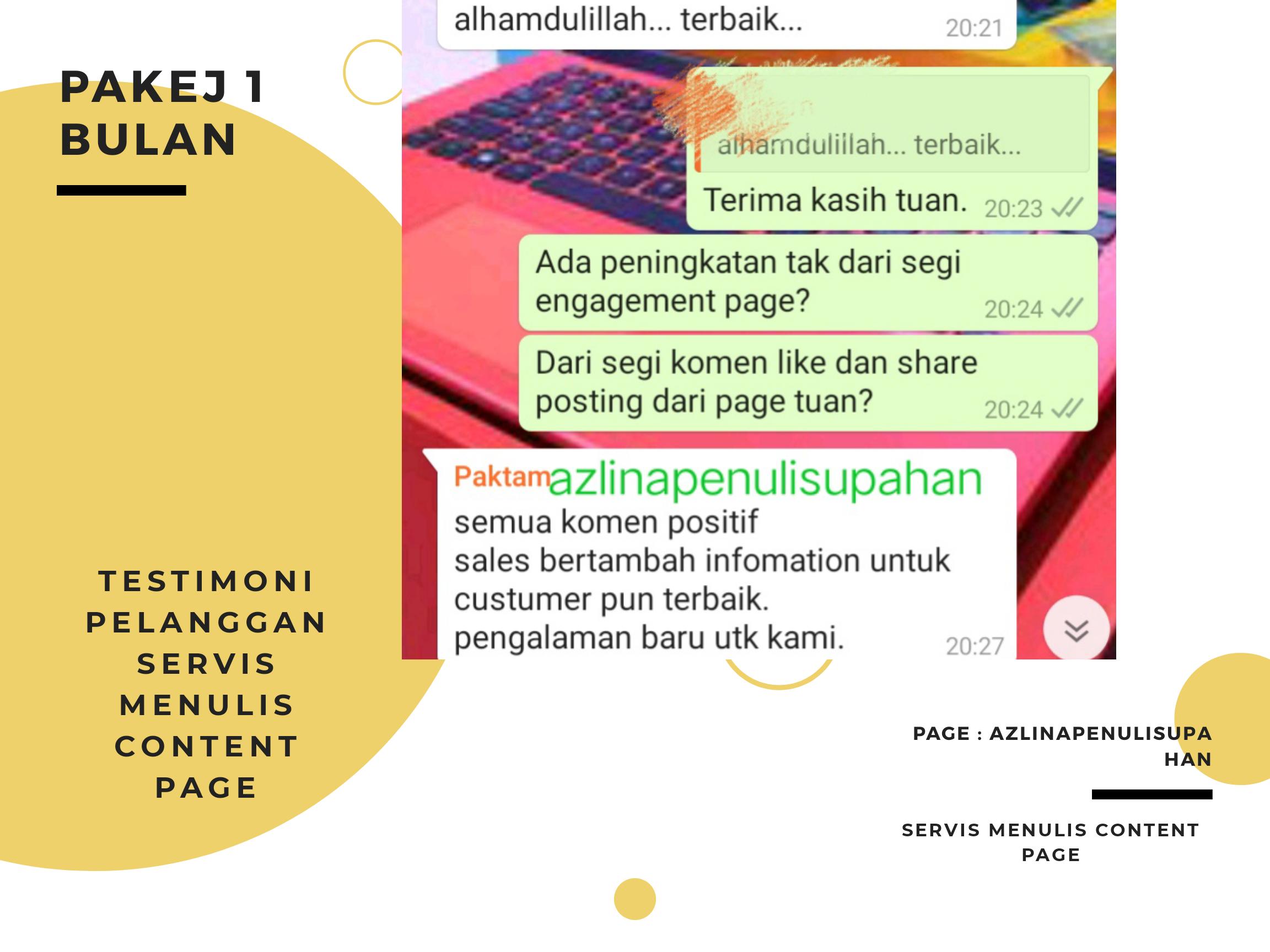 Testimoni servis upah menulis content page