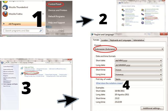 cara mengganti format tanggal di windows 7 indonesia