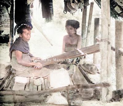 penenun di purba saribu sumatera utara bagian timur daerah simalungun dan karo
