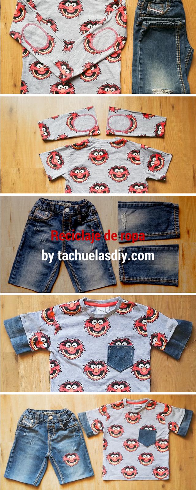 Tutorial paso a paso de como reciclar ropa de invierno y aprovecharla para el verano y además combinar la ropa y transformarla en un conjunto molón.