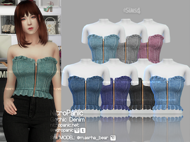 Gothic Denim for The Sims 4