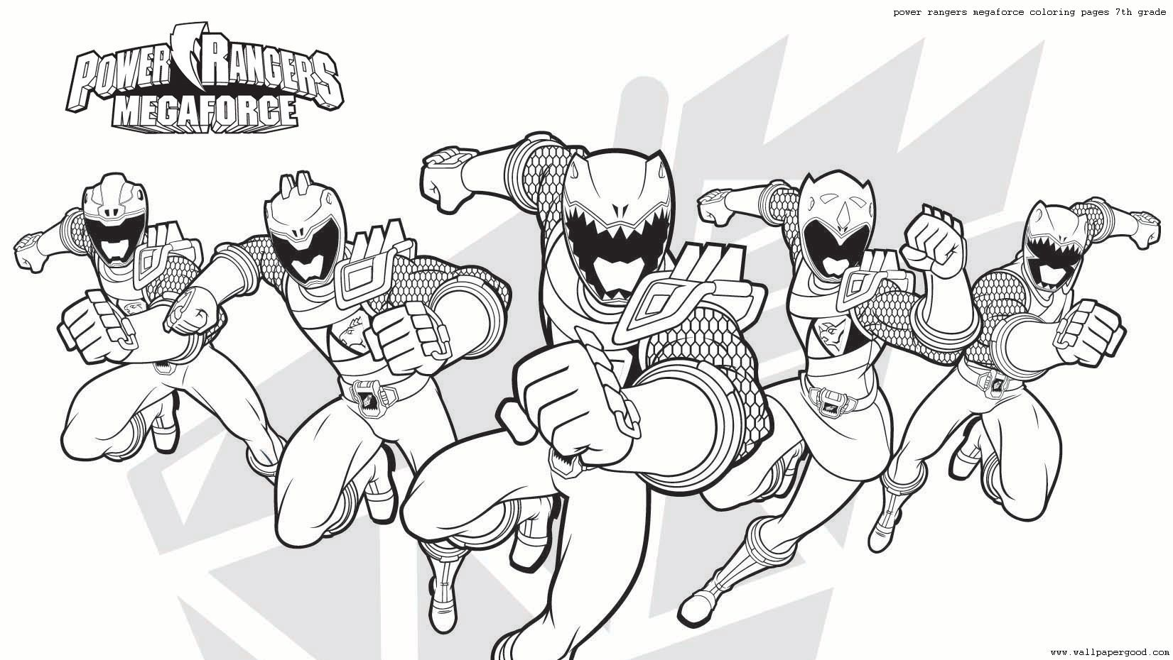 power rangers megaforce coloring pages 7th grade