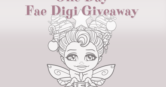 One Day Fae Digi Giveaway - Christmas Fun Appleblossom Fae