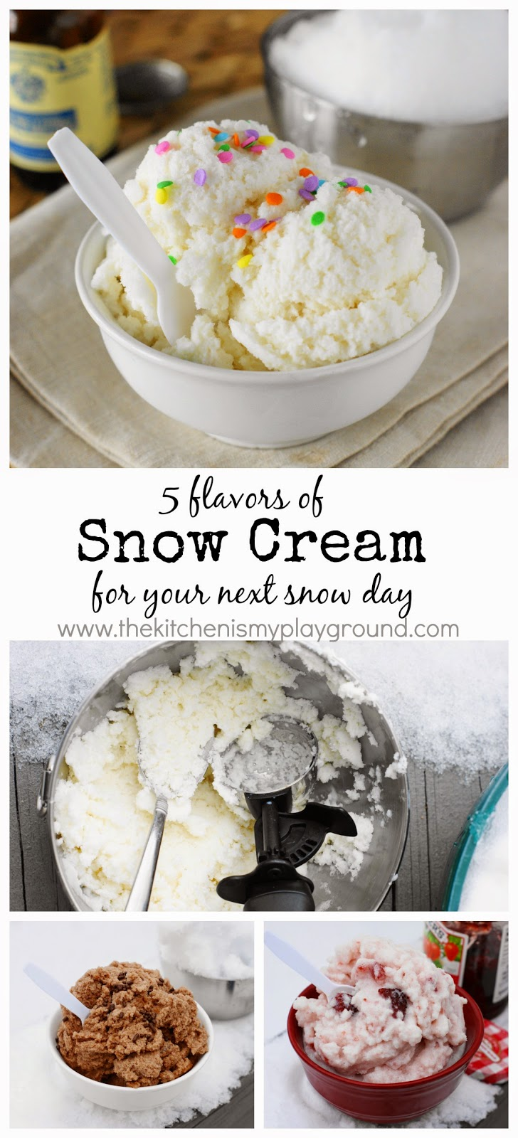 How to make snow cream 5 different flavors of snow ice cream how to make 5 flavors of snow cream for your next snow day image ccuart Gallery