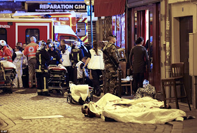 terrorist attack in Paris killed 128