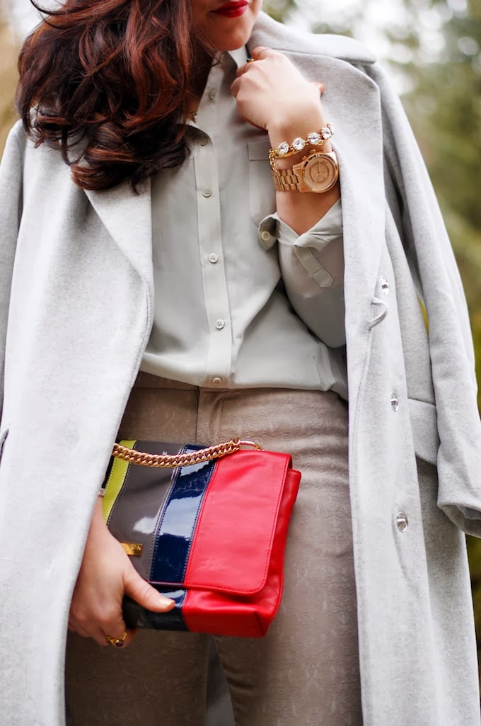 Halston Heritage clutch and Michael Kors watch Vancouver fashion blog Covet and Acquire