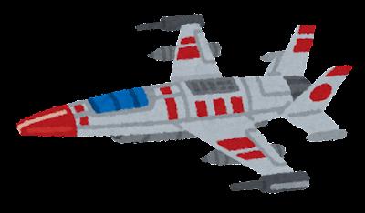 宇宙船のイラスト(戦闘機・背景なし)